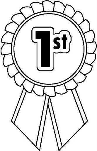 1st prize ribbon template - 1st place ribbon clip art black and white sketch coloring page