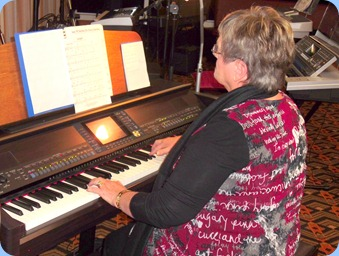 Barbara McNab played our Clavinova to great effect as Barbara always does.
