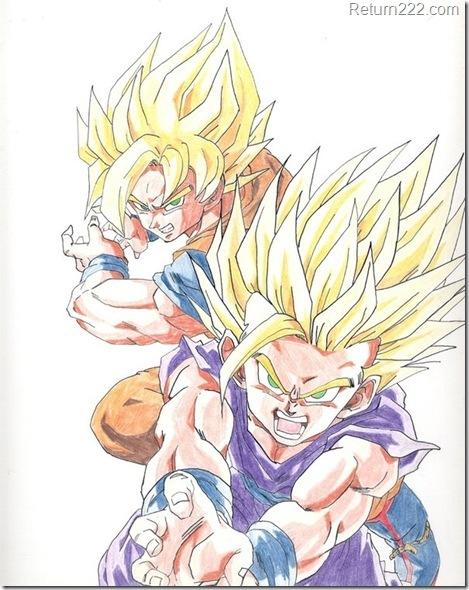 Goku_and_Gohan_by_Maetelsama