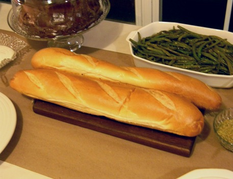 french bread and green beans