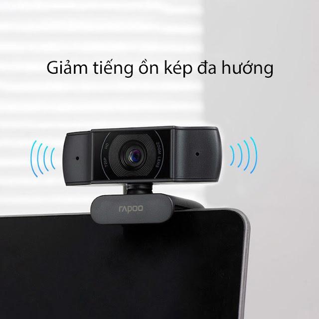 Rapoo C200 - Webcam Họp Trực Tuyến Phân Giải HD 720p