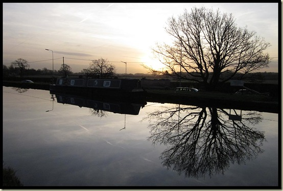 Sunrise from the Bridgewater Canal near Lymm