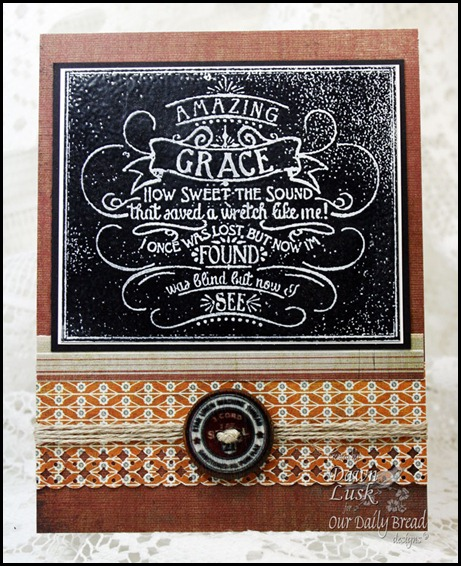 Chalkboard-Amazing Grace, Our Daily Bread designs