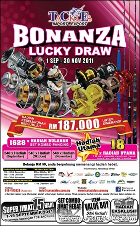 Selected Promotion To You Tce Tackles Bonanza Lucky Draw 2011