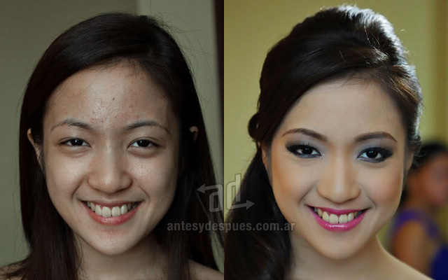 Antes y despues del maquillaje 23