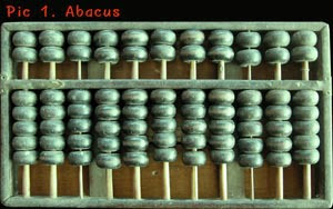 Abacus was invented in 2400 BC.