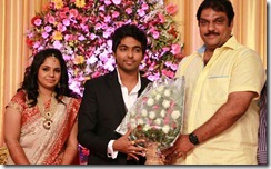 Taj Noor at GV Prakash Kumar & Saindhavi Wedding Reception Photos