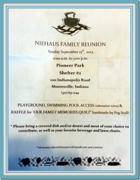 Niehaus Reunion Invite
