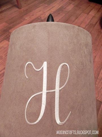 adhesive embroidered monogram
