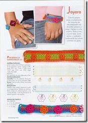 pulseras de crochet infantiles