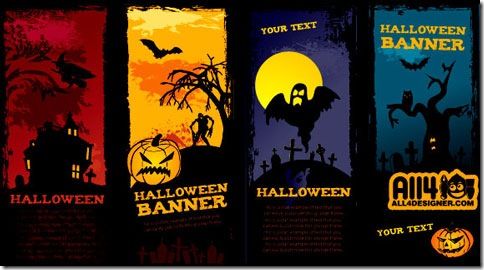 Plantillas para flyers, invitaciones o folletos de fiestas Halloween