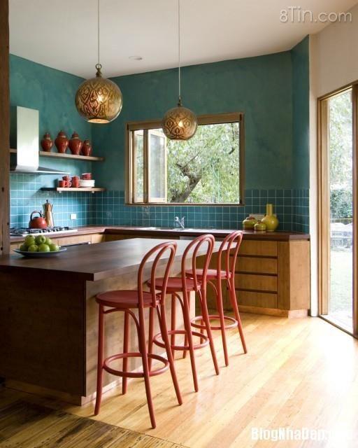 Hãy tạo điểm nhấn cho phòng bếp nhà bạn thêm màu sắc