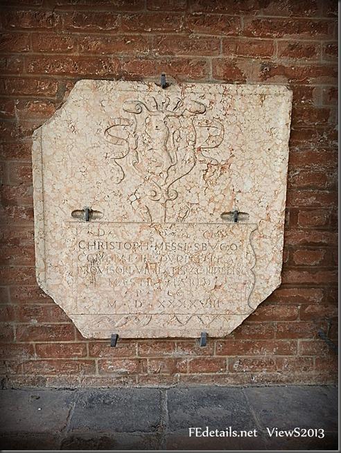 Lapide della tomba di Cristoforo di Messisbugo - Tombstone of Christopher of Messisbugo - original photo