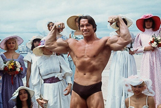 Picture taken 19th May 1977 of American actor Arno...CANNES, FRANCE:  Picture taken 19th May 1977 of American actor Arnold Schwarzenegger during the 38th Cannes film festival. The actor presented Pumping Iron, a documentary whom spreads his fame beyond bodybuilding circles. Arnold Schwarzenegger was born 30th June 1947 in the small isolated village of Graz, Austria.  Now, he is chairman of the Inner-City Games Foundation, this program covers 10 city's and is continuing to grow. He poses 21th June 2003, new threat to beleaguered California governor. AFP PHOTO (Photo credit should read AFP/AFP/Getty Images)
