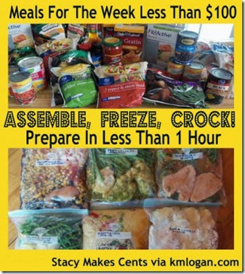 6 crockpot freezer meals you can make in under 1 hour #homeschool #recipes #freezermeals