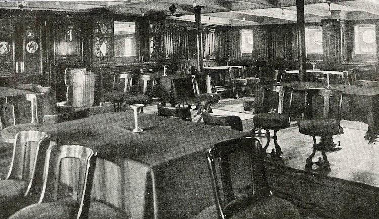 Comedor de 1ª Clase. Del Libro de Información para el Pasajero. Compañia Trasatlantica de Barcelona. Año 1923.jpg