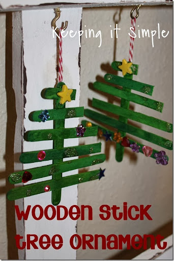 Wooden Stick Tree Ornaments