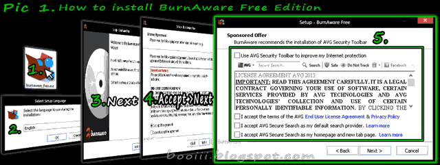 How to install Burn aware free Edition