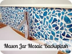 DIY Mason Jar Mosaic Backsplash Tutorial PART 1 {Sawdust and Embryos}