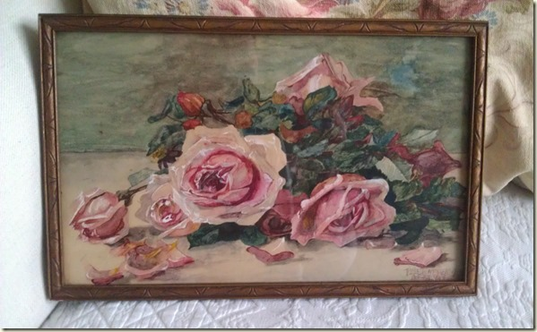 antique rose painting