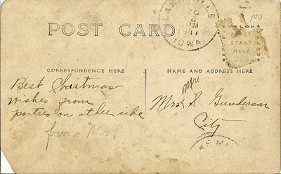 1911 Christmas Greeting Two