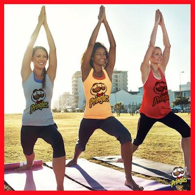 Salute to Pringles on International Yoga Day