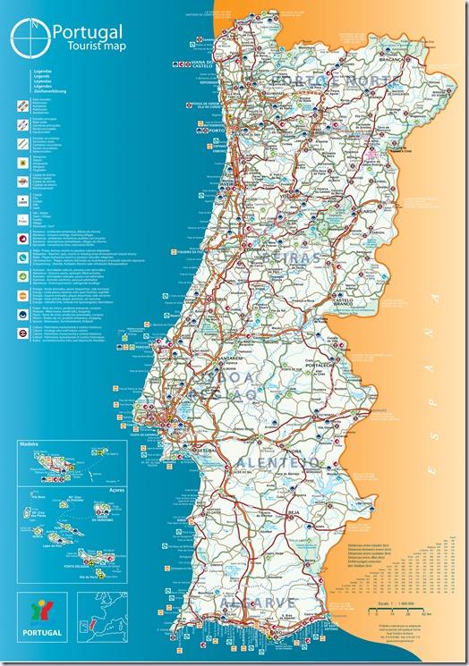 mapa completo de portugal Vinho e Delicias   Sobre vinho: Mapa de Portugal Completo mapa completo de portugal