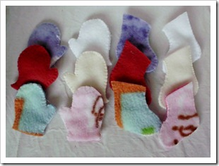 Tiny Fleece Mittens and Stockings