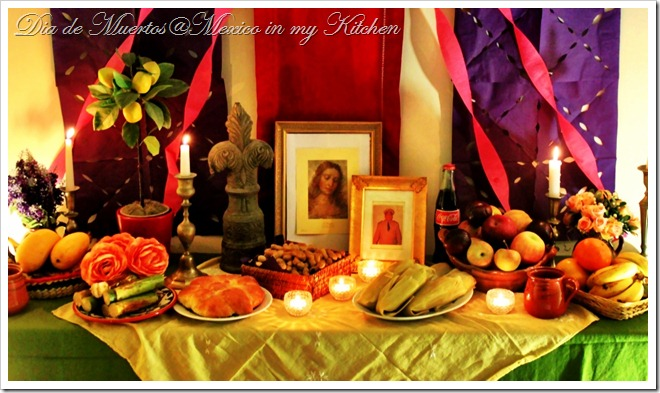 Altar Dia de Muertos Mexico in my kitchen