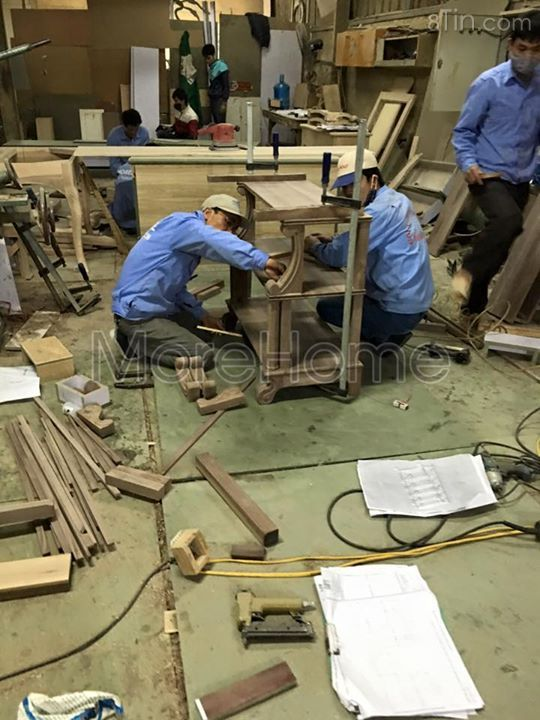 Thi công đồ gỗ ngày cận tết Bạn nào ra tết cần