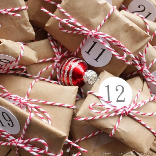 Brown Paper Packages Advent via homework
