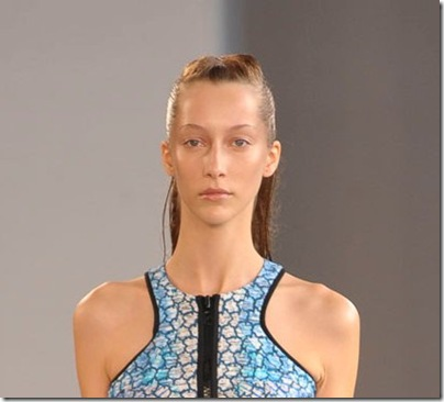Wet look hair at Peter Pilotto