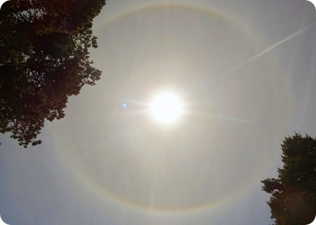 Halo around the sun.