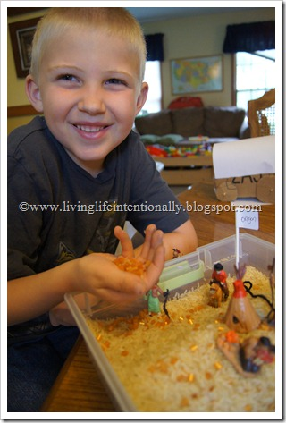 Westward Expansion Sensory Bin