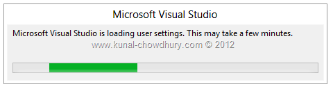 VS2012 Installation Experience - Screen 5 - Configuring Visual Studio for the First Time