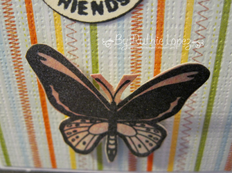 Birdwing Butterfly - step card 2