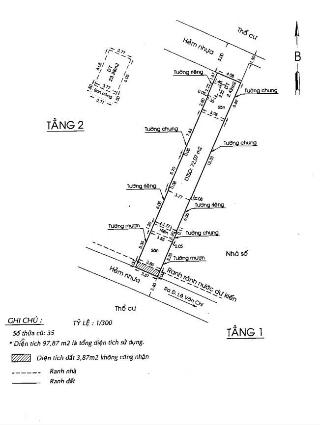 Bán nhà hẻm Lê Văn Chí Quận Thủ Đức, hẻm ô tô 5 mét, diện tích 4m x 33m, nhà 1 trệt 1 lầu, giá chính chủ 4,9 tỷ Không Thương Lượng.2