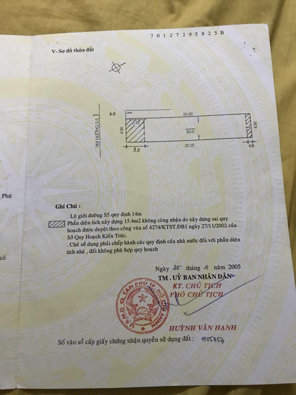 Bán nhà Mặt Tiền Nội Bộ đường Tây Thạnh Quận Tân Phú, Diện tích ngang 4m, dài 20 mét, giá 6,9 tỷ.2