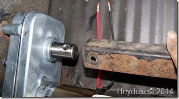 insert tube on new motor