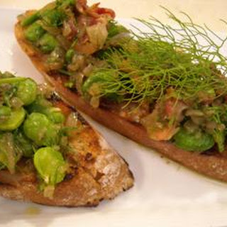 Broad Beans with Pancetta Recipe