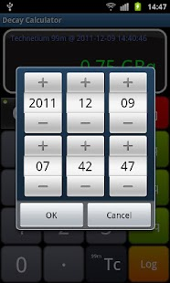 Radioactive Decay Calculator - screenshot thumbnail