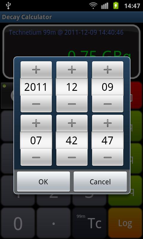 Radioactive Decay Calculator - screenshot