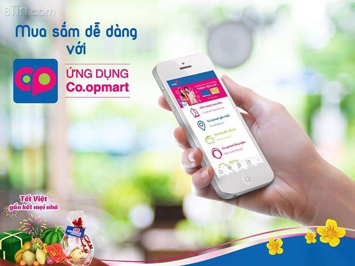 Ứng dụng Co.opmart với nhiều tiện ích hỗ trợ trong mua sắm