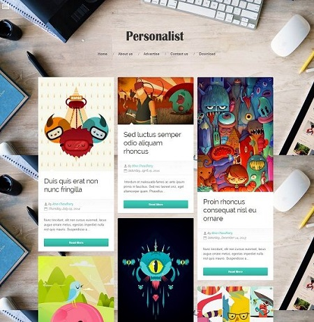 Template Blogspot - Personalist - Responsive