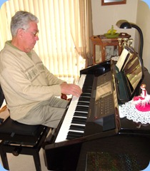 Jim Nicholson playing the Clavinova CVP-210