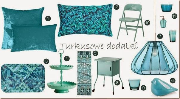 turkusowe dodatki