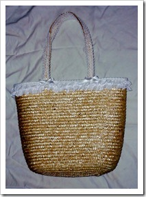 Pretty Lacey Straw Bag