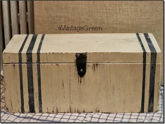 Waxed Chalk painted box