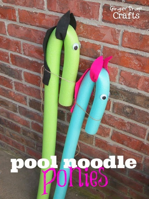 pool noodle ponies from #gingersnapcrafts #tutorial #kidcraft