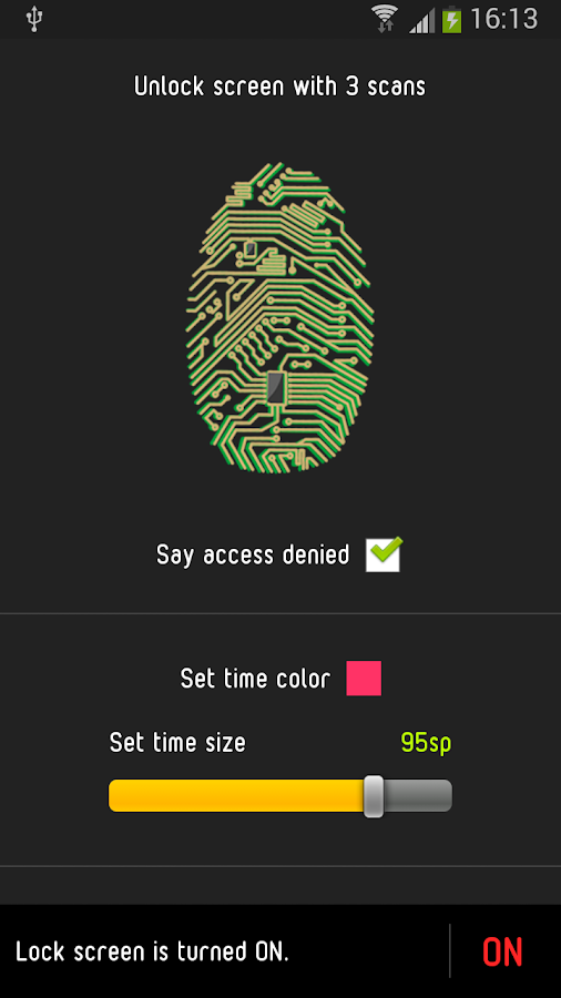 Unlock With Fingerprint PRANK- screenshot